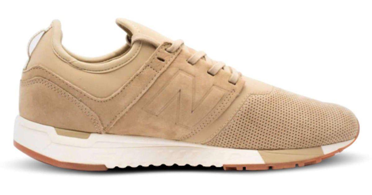New Balance Green 247 Luxe Sneaker In Hemp for men