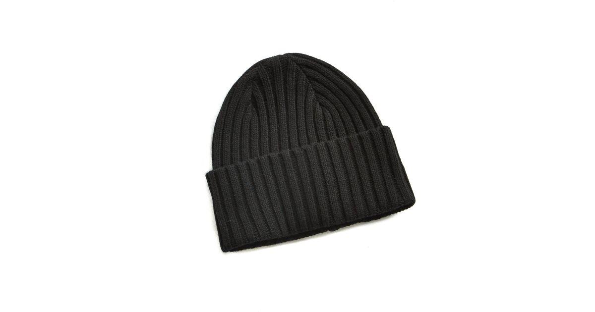 1e2e23d688a Lyst - Drake s Brushed Merino Wool Hat Black in Black for Men