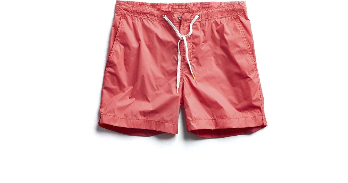 2b6ee6365c1b5 Hartford Kuta Solid Swim Trunks In Pink in Pink for Men - Lyst