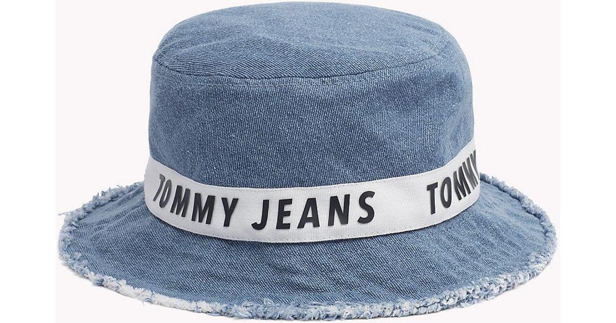 Tommy Hilfiger Denim Bucket Hat in Blue for Men - Lyst af19725a9c1