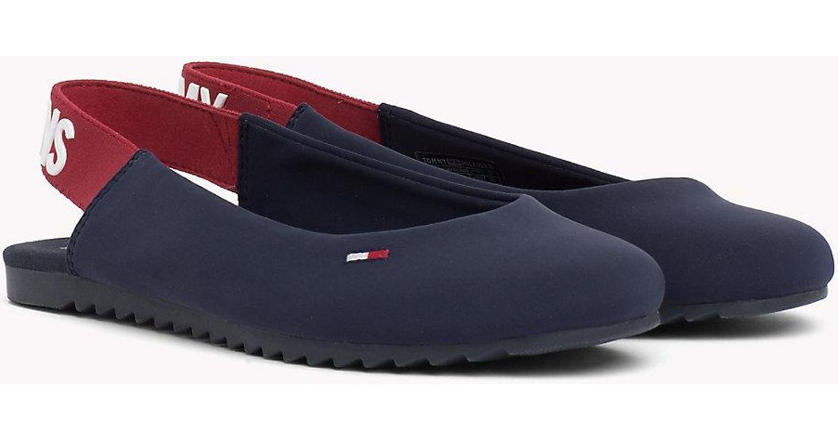 e783dee87 Tommy Hilfiger Sporty Slingback Ballerina Shoes in Blue - Lyst