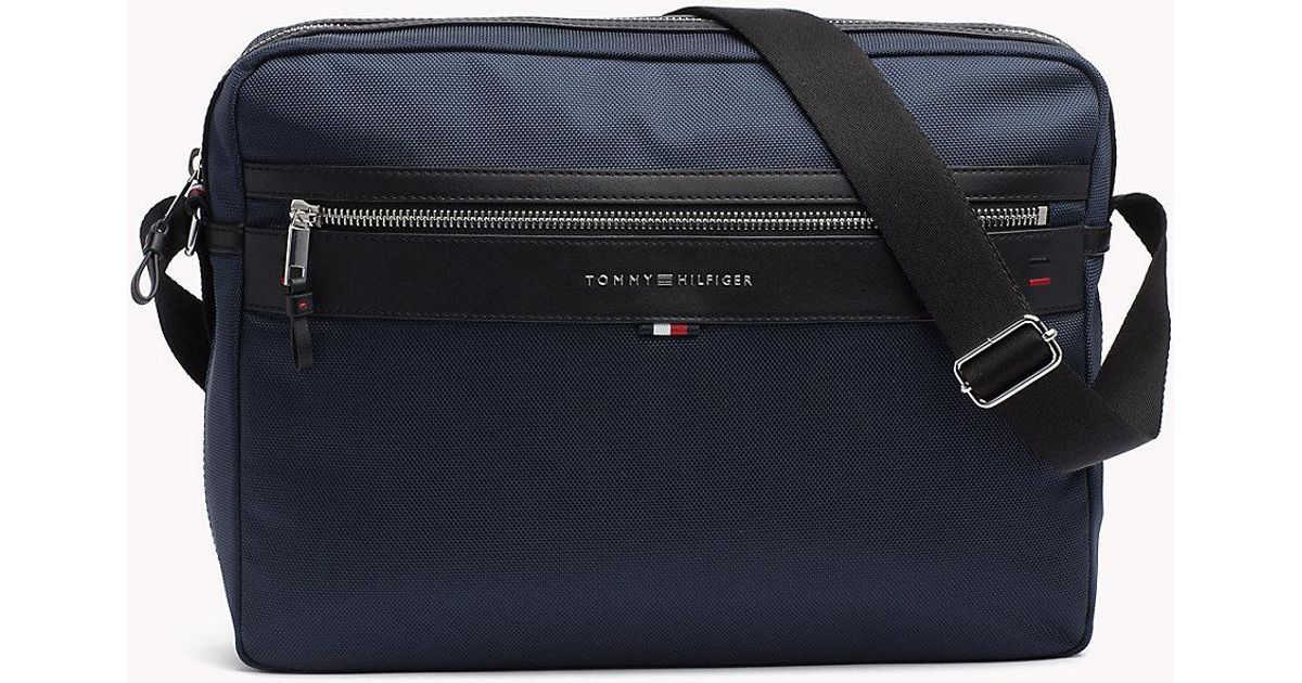 527f117ba4 Tommy Hilfiger Smart Nylon Messenger Bag in Blue for Men - Lyst