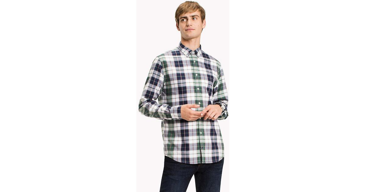 12374a3a Tommy Hilfiger Regular Fit Checked Shirt in Blue for Men - Lyst