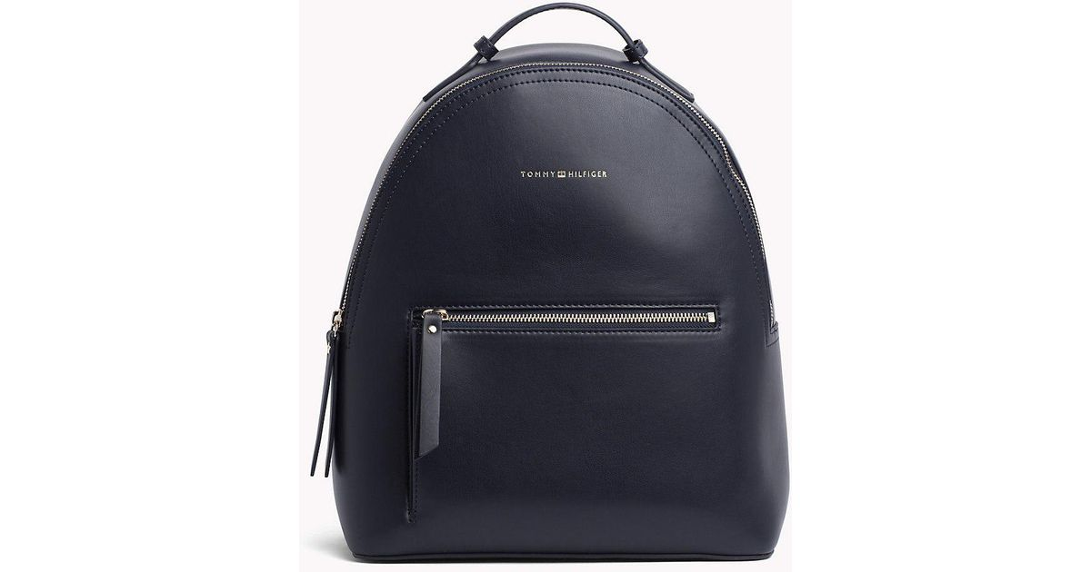 e0cf5ceafba Tommy Hilfiger Iconic Logo Strap Backpack in Blue - Lyst