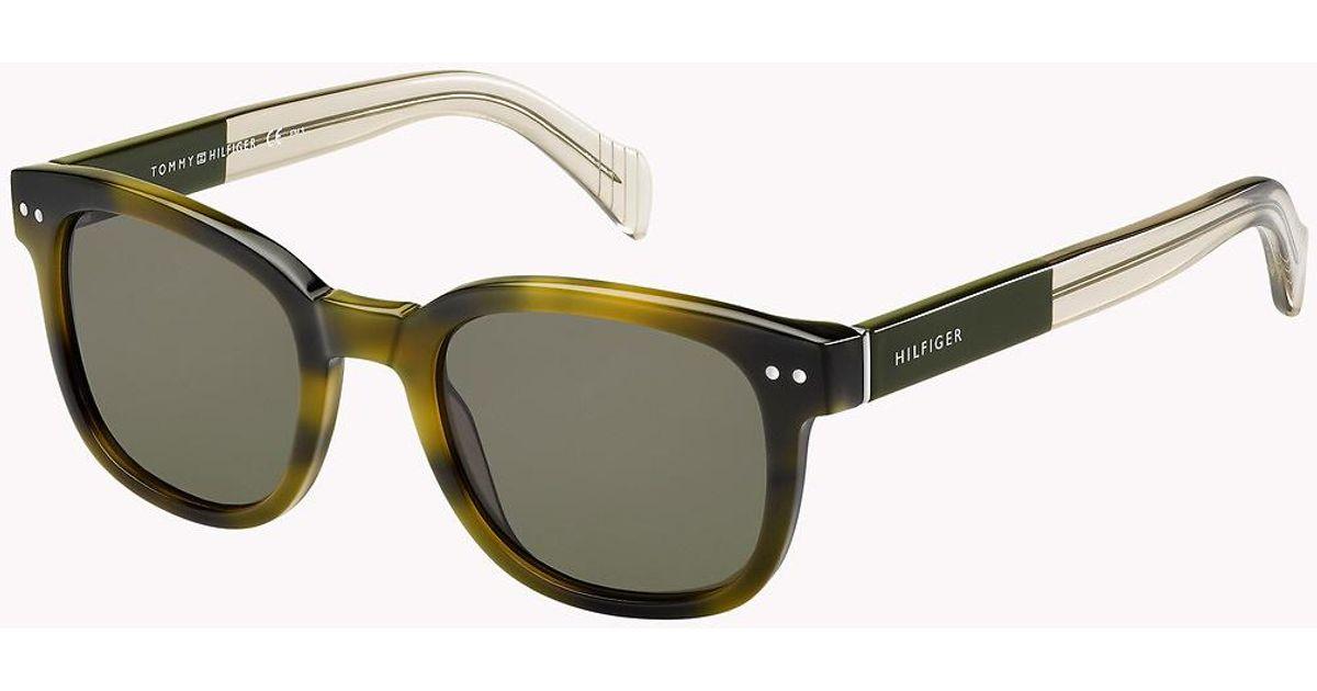 4809c6491506 Tommy Hilfiger Boston Sunglasses in Green - Lyst