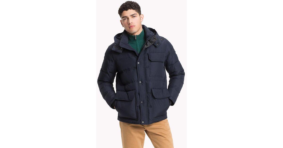 afa1b338 Tommy Hilfiger Utilitarian Hooded Bomber Jacket in Blue for Men - Lyst