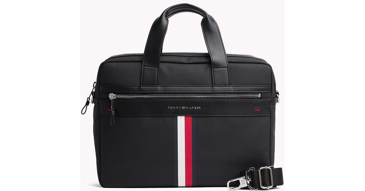 74489423eaa Tommy Hilfiger Business Casual Laptop Bag in Black for Men - Lyst