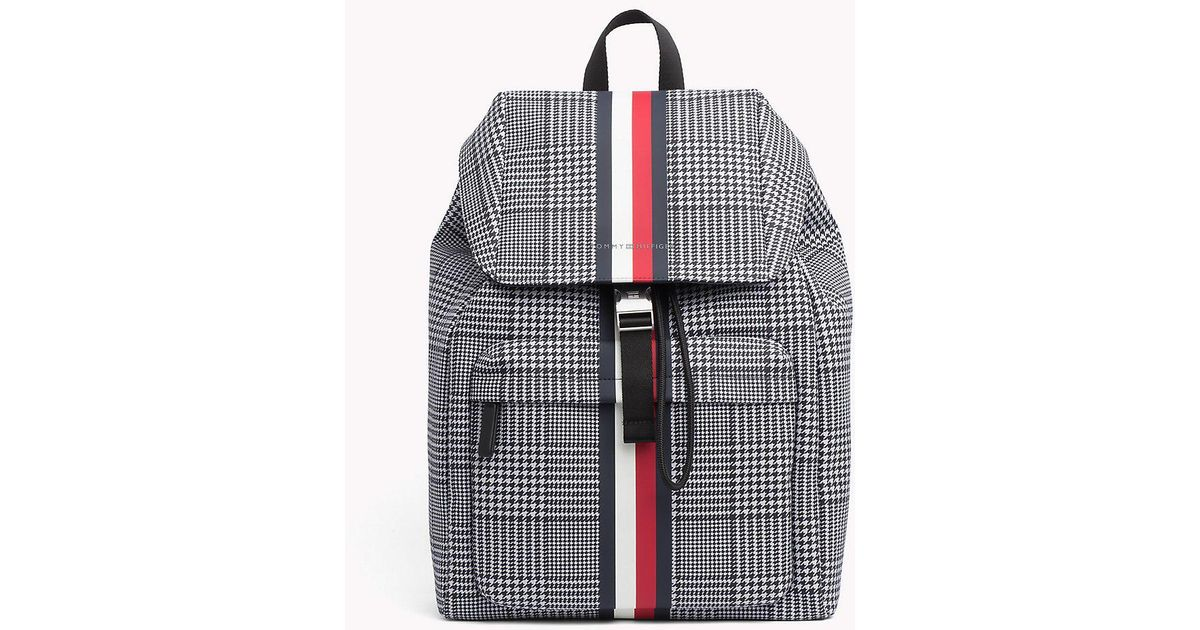8be2dc31 Tommy Hilfiger Tommy Tape Check Backpack in Gray for Men - Lyst