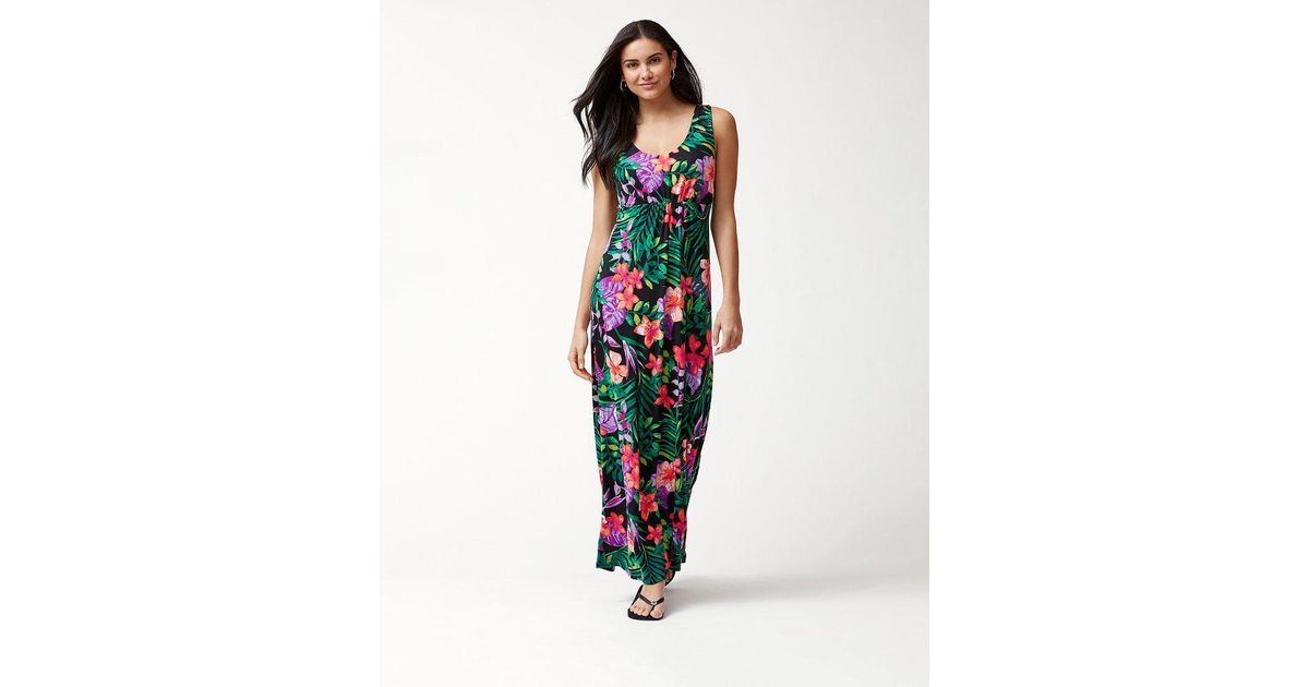 2f6e9a30532 Tommy Bahama Marabella Blooms Tambour Maxi Dress in Black - Lyst