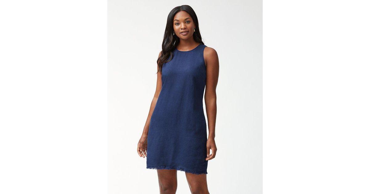 0019024fd1b Lyst - Tommy Bahama Two Palms Linen Shift Dress in Blue