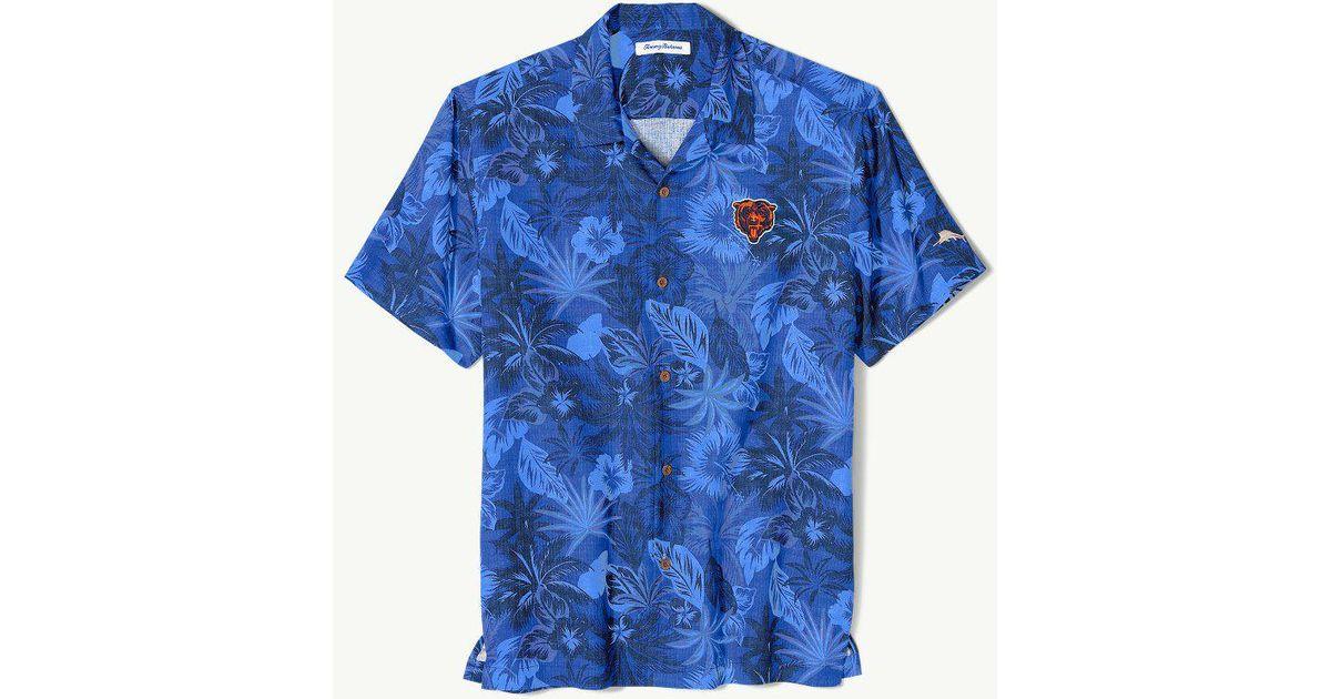 super popular 90c01 aff8d Tommy Bahama - Blue Big & Tall Nfl Fuego Floral Camp Shirt for Men - Lyst
