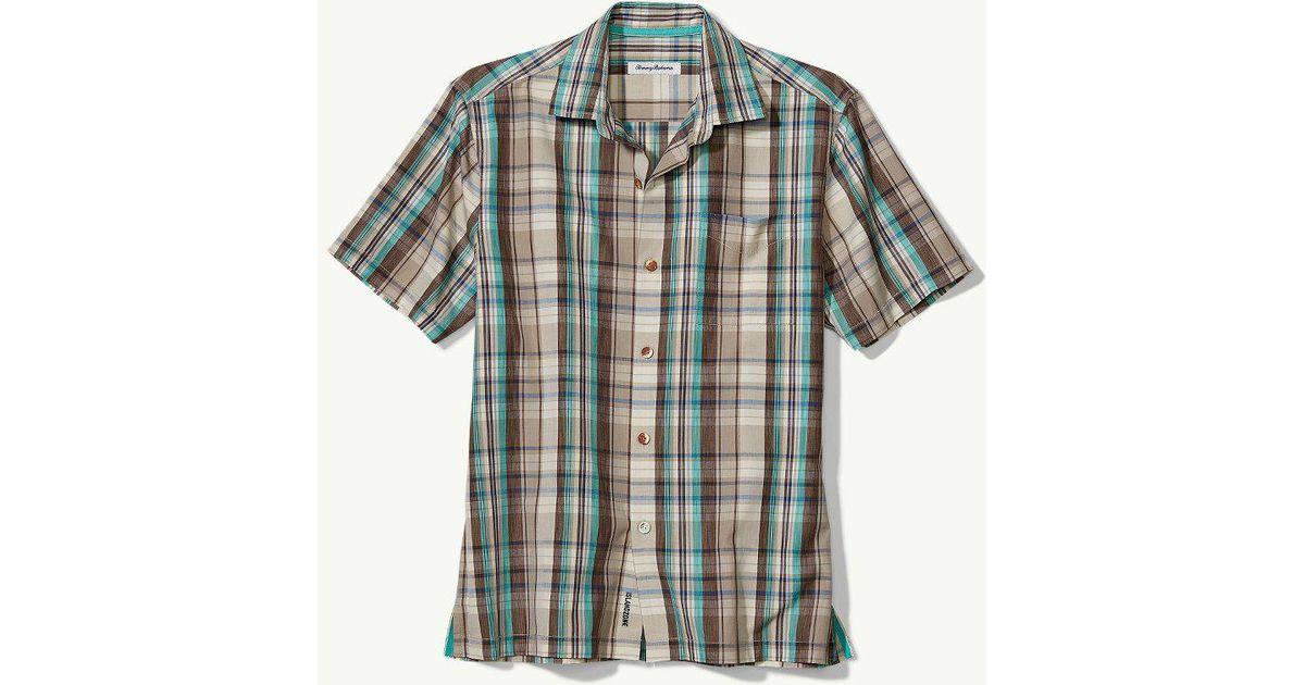 0c947164c52d8 Lyst - Tommy Bahama Big   Tall Royal Palm Plaid Islandzone® Camp Shirt for  Men