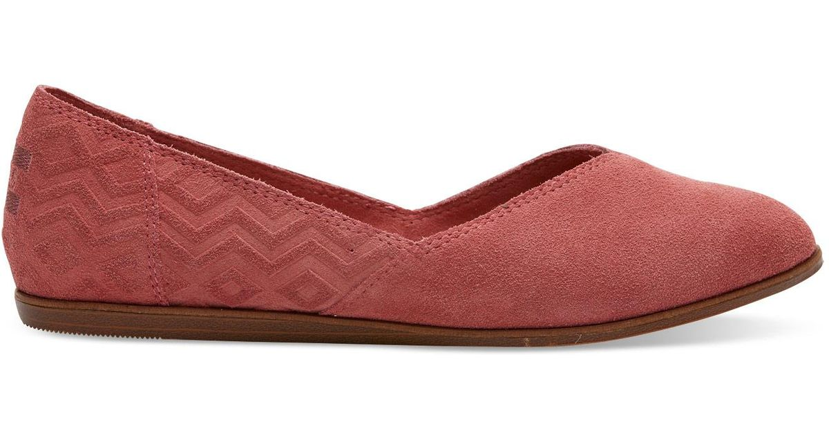 TOMS® Faded Rose Suede Jutti Flat