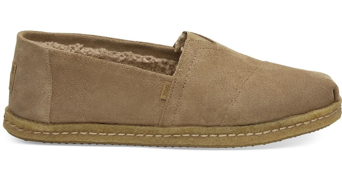 706d53b48df Lyst - TOMS Toffee Suede Men s Classics in Brown for Men