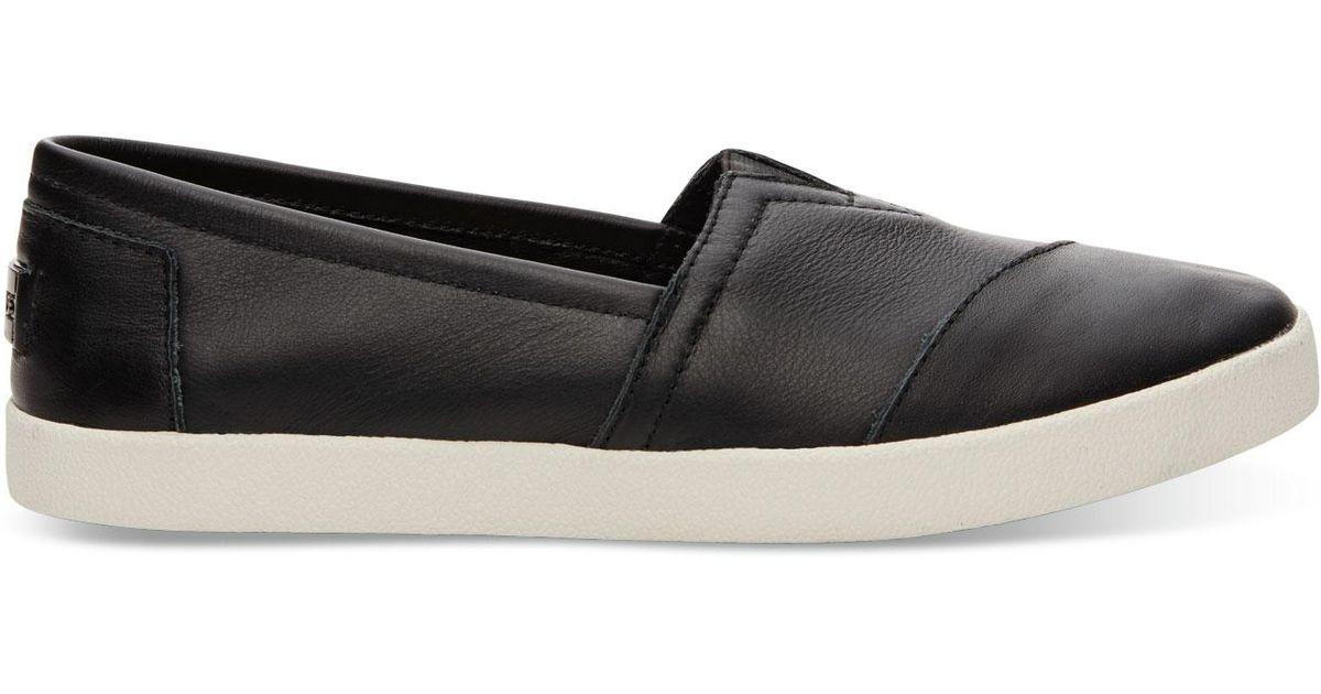 482a6c9fd260 Lyst - TOMS Women s Avalon Slip-on Sneakers in Black