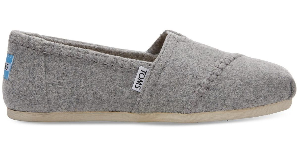 d13c069ad1d Lyst - TOMS Drizzle Grey Wool Women s Classics in Gray