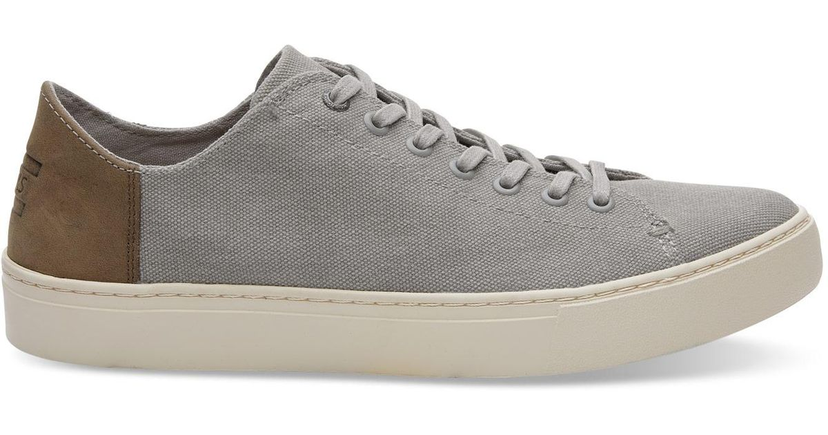 d6a8527651 TOMS Drizzle Grey Washed Canvas Men's Lenox Sneakers in Gray for Men - Lyst