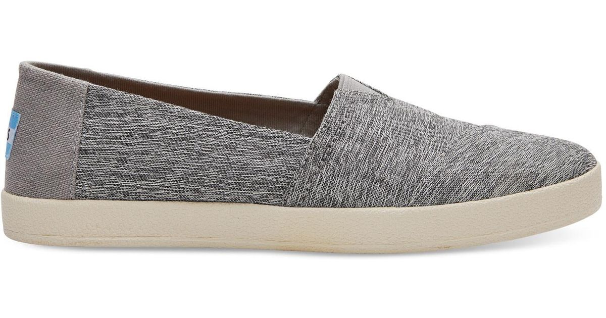bb00c84060f Lyst - TOMS Forged Iron Grey Space Dye Women s Avalon Slip-ons in Gray