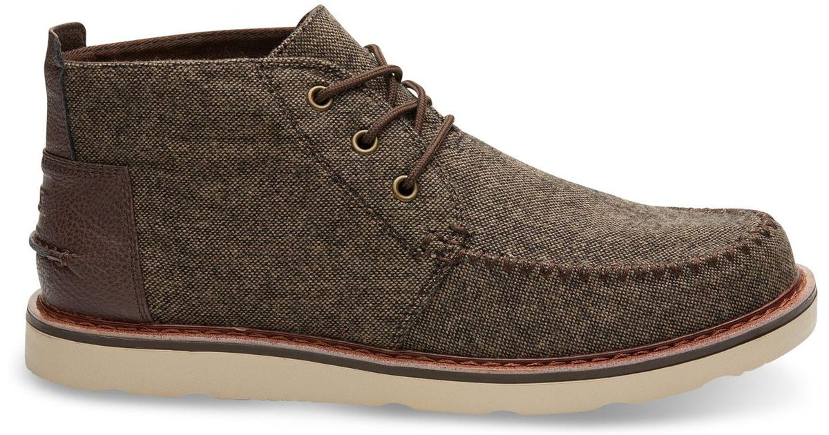 1048c4e22f4 Lyst - TOMS Chocolate Brown Brushed Wool Men s Chukka Boots in Brown for Men