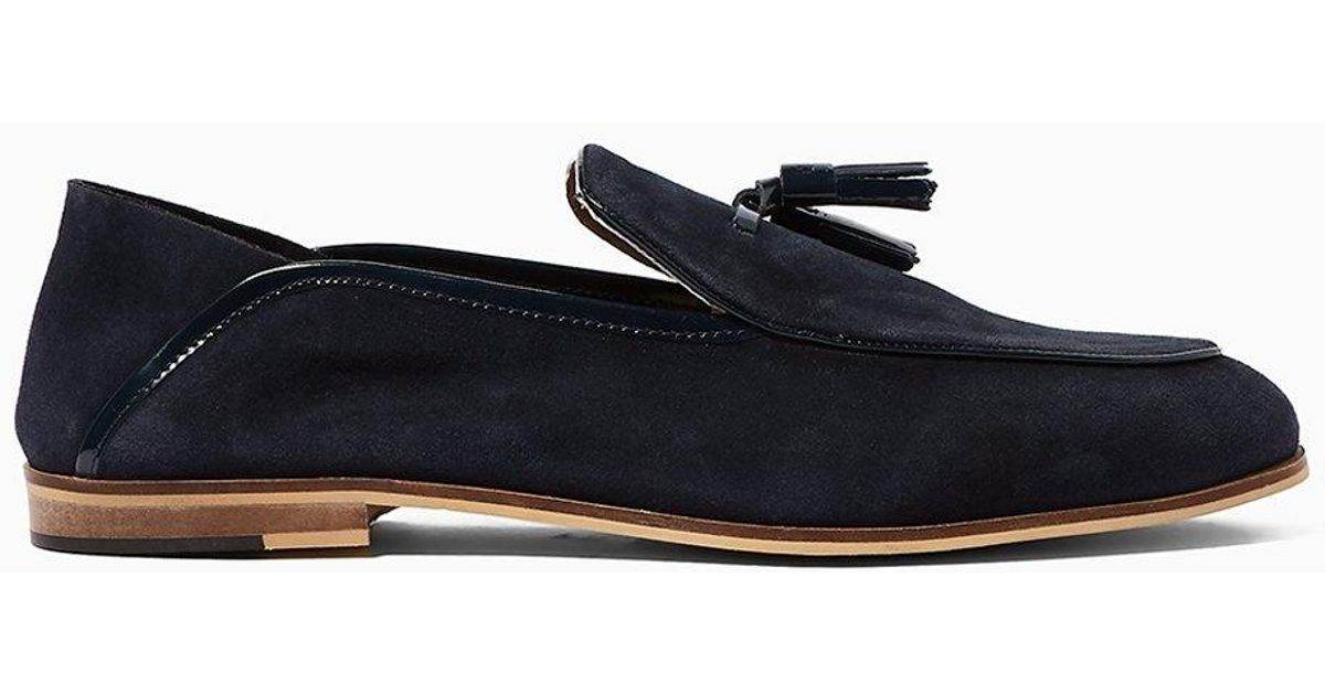 56504c66e6c House Of Hounds Helios Stamp Loafer in Blue for Men - Lyst