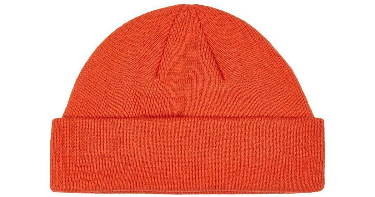 1f2cfa797c4 TOPMAN Orange Mini Roll Beanie in Orange for Men - Lyst
