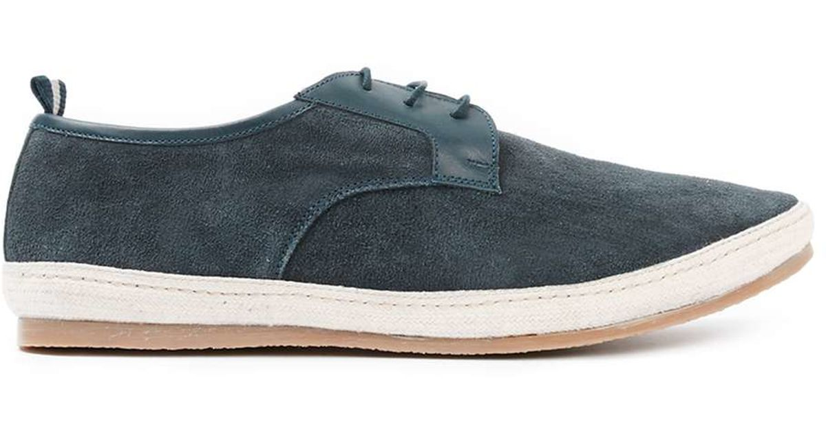 topman navy suede casual lace up shoes in blue for