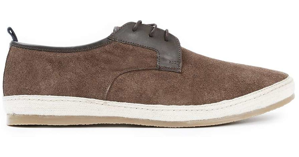 topman suede casual lace up shoes in brown for lyst