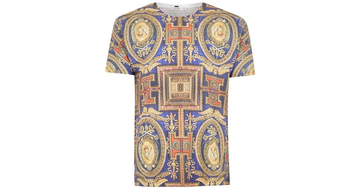 eb2bf0cf2 Lyst - TOPMAN Multi Baroque Print T-shirt in Blue for Men