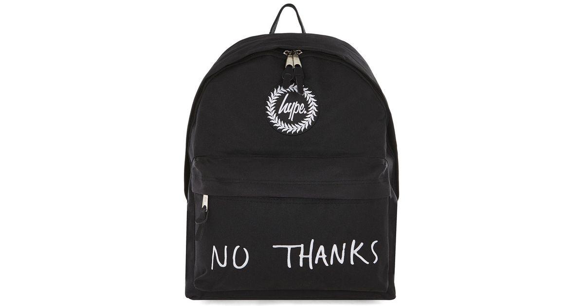 Hype  s Black  no Thanks  Backpack in Black for Men - Lyst 3cc9fe2423975