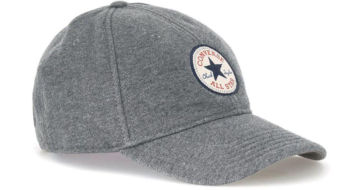 Lyst - Converse Converse Gray Fleece Snapback Cap in Gray for Men 3069406b758b