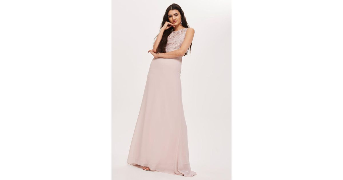 3984711e096a9 TFNC London nais Maxi Dress By in Pink - Lyst