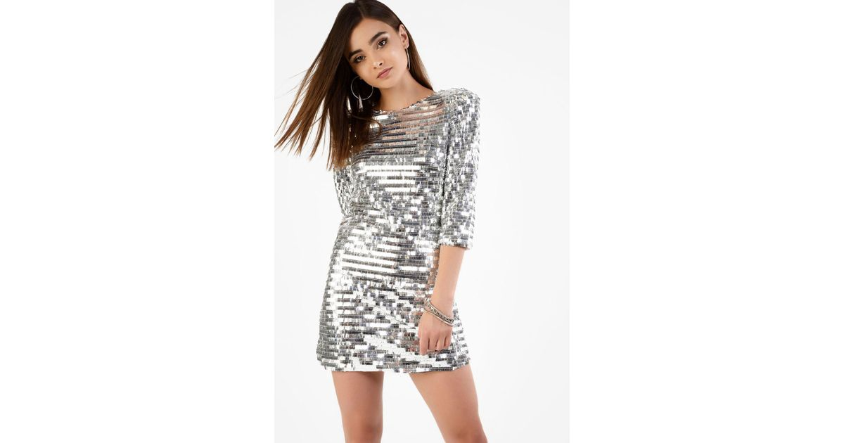 e264faeac6f Glamorous Plunge Sequin Dress By in Metallic - Lyst