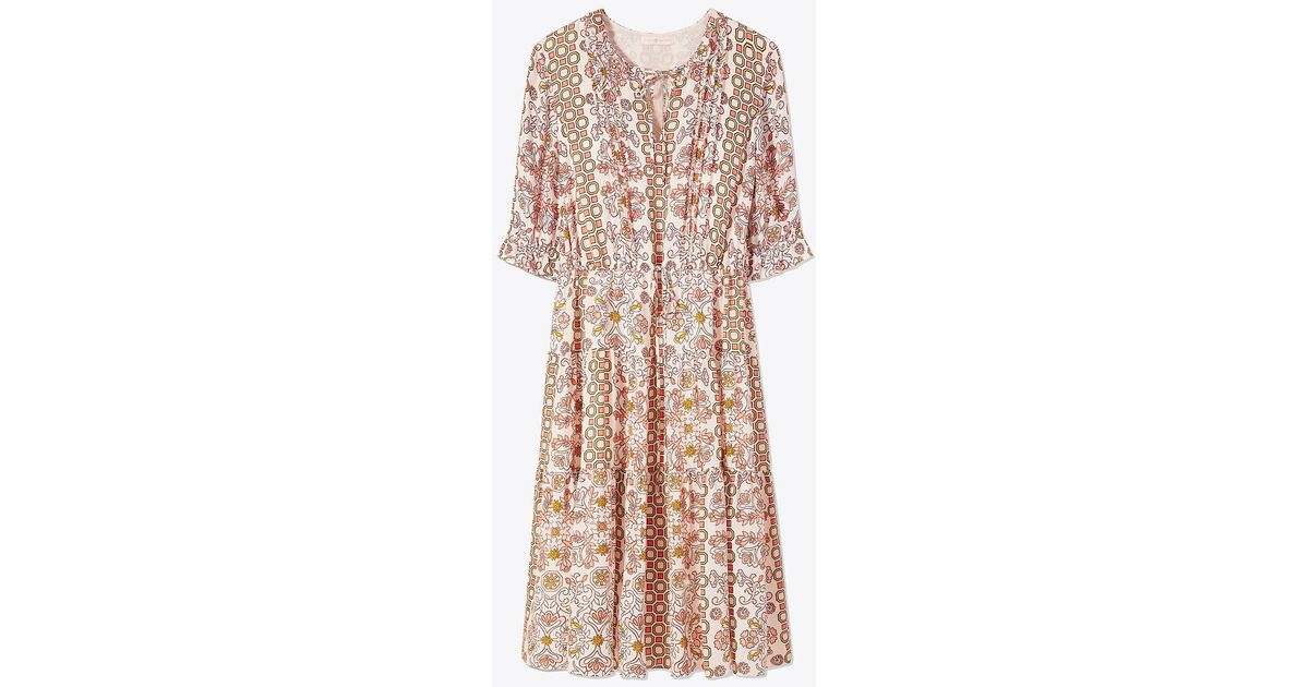 33ab56b76ae9db Lyst - Tory Burch Serena Dress