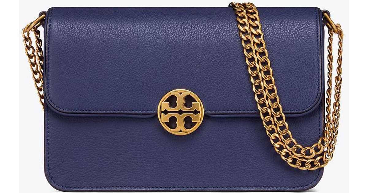8b4a1ba3c1cf Lyst - Tory Burch Chelsea Convertible Shoulder Bag in Blue
