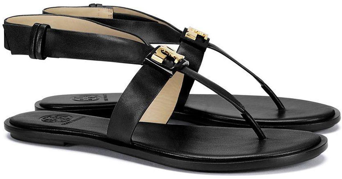 03bb0e474ac5d6 Lyst - Tory Burch Gigi Flat Sandal in Black