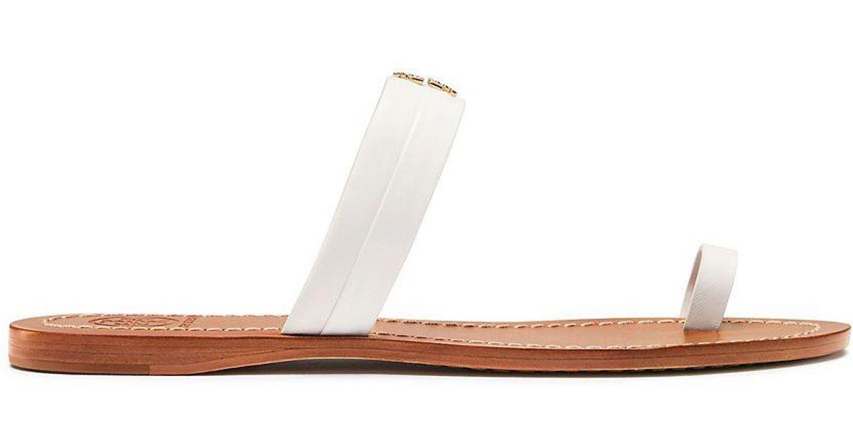 6ac524a907da Lyst - Tory Burch Jolie Toe-ring Slide in White