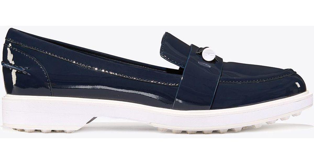 f4b7801e2bb Lyst - Tory Sport Pocket-tee Golf Loafers in Blue