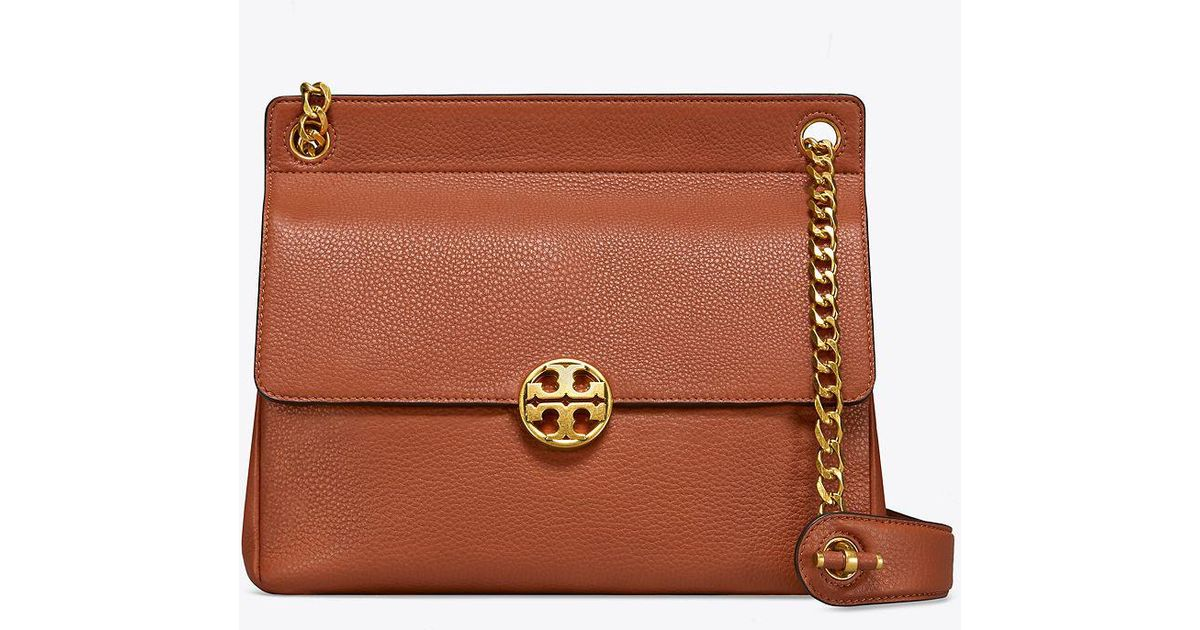 7a2e76f476e2 Lyst - Tory Burch Chelsea Flap Shoulder Bag in Brown