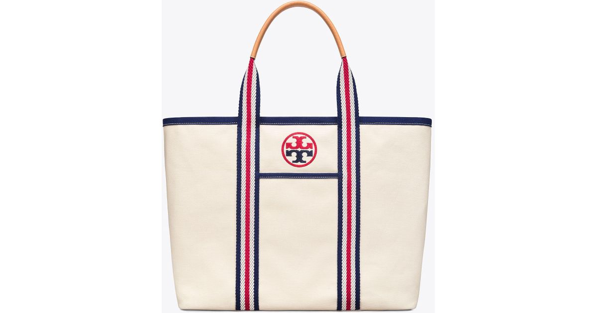 2031b901b90 Lyst - Tory Burch Embroidered-t Large Tote in Natural