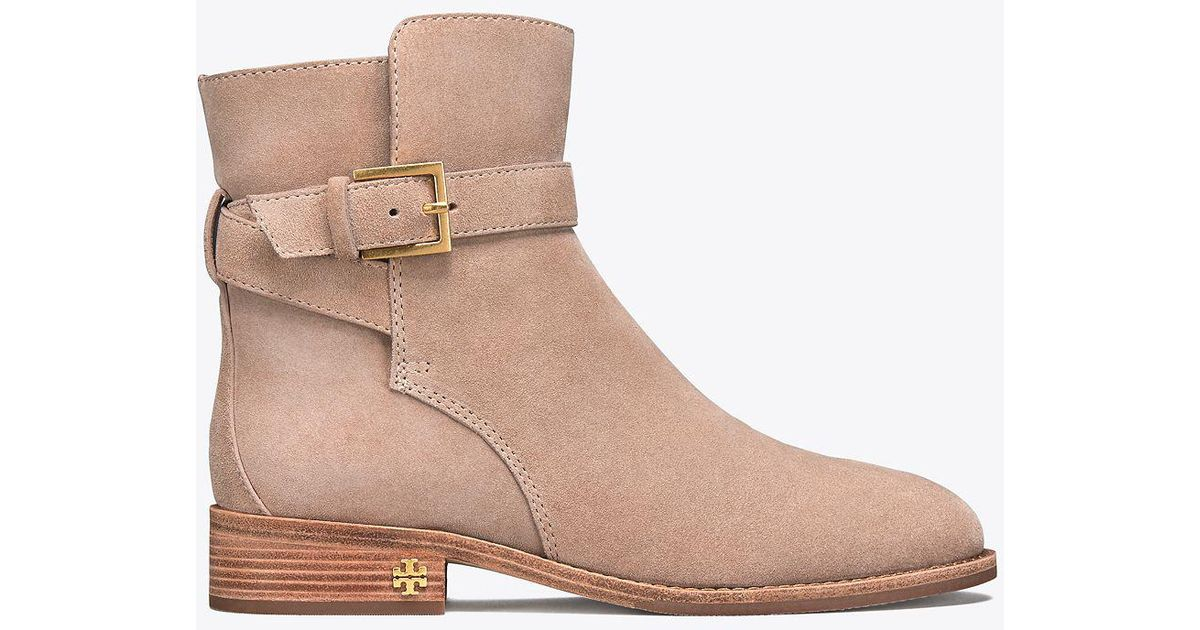09f93fc6ab665 Lyst - Tory Burch Brooke Ankle Bootie in Natural