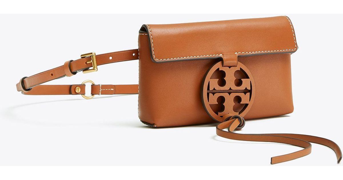 32aa9db730e Lyst - Tory Burch Miller Belt Bag in Brown - Save 19%