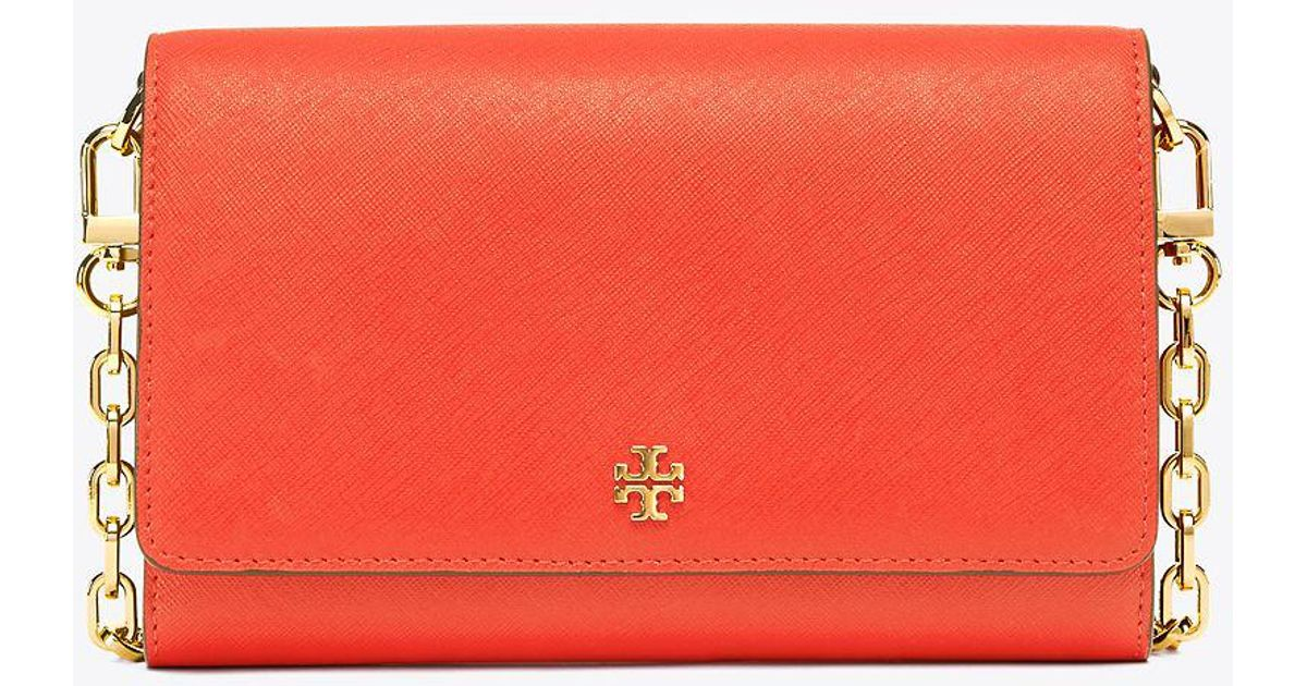 1d0f03f98d1 cheapest lyst tory burch robinson chain wallet in red afd9e 7920c