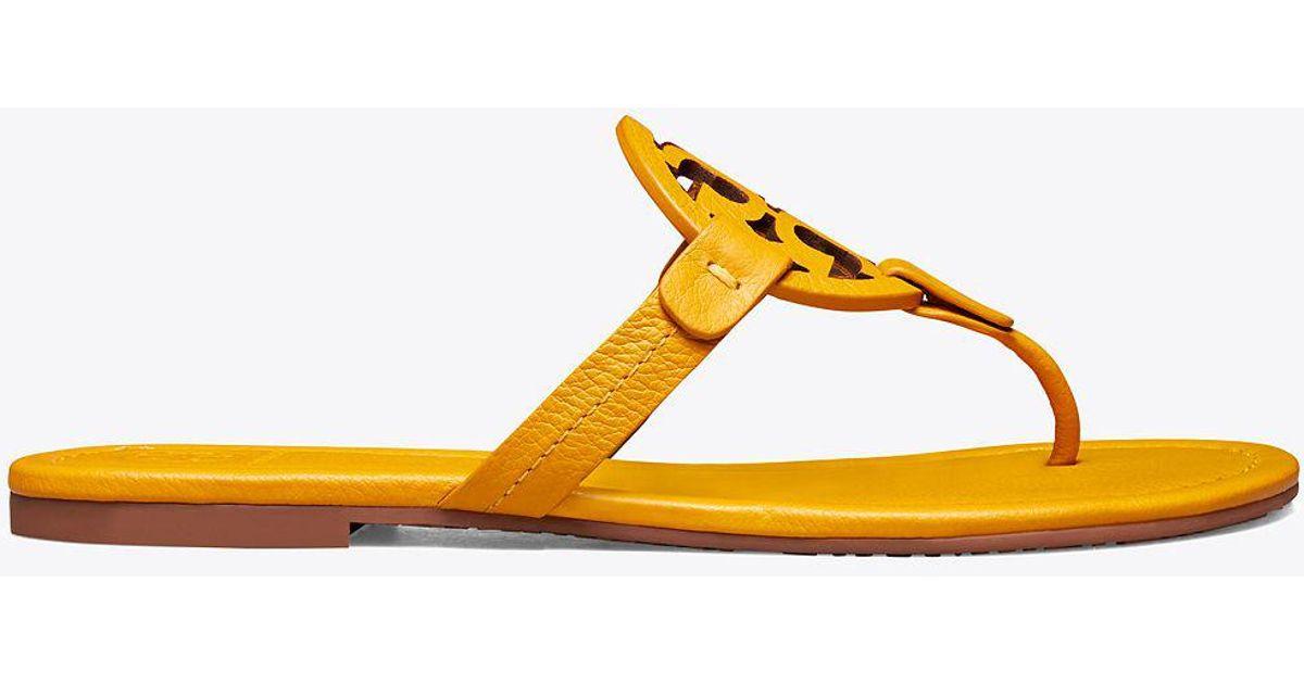7cf3ee5b74512 lyst tory burch miller sandals in yellow online retailer 208c5 85b72 ...