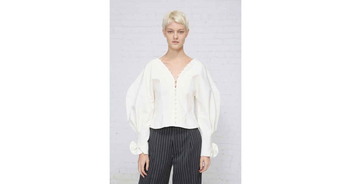 8be580c8b20 Jacquemus La Chemise Boutons in White - Lyst