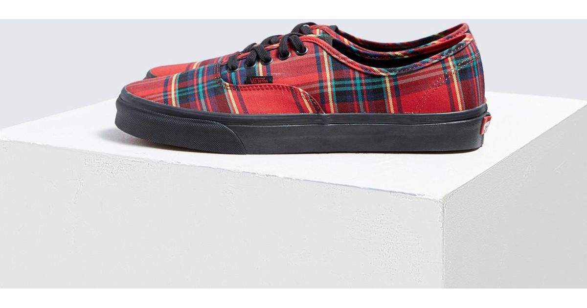 6fcd7cb3a4 Vans Authentic Plaid Mix Sneaker in Red for Men - Lyst