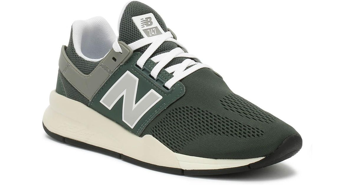 New Balance Womens 247 Faded Rosin Green Marblehead Sport Trainers