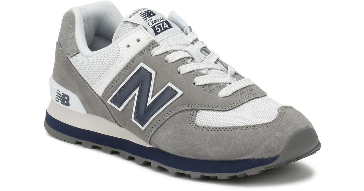 Gray Navy Lyst In Grey Mens Trainers Men 574 For New Balance BxeoWEQrdC