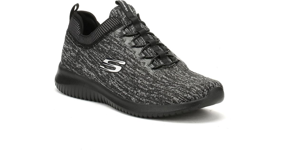 Skechers Gray Womens Black Charcoal Ultra Flex Bright Horizon Trainers Lyst