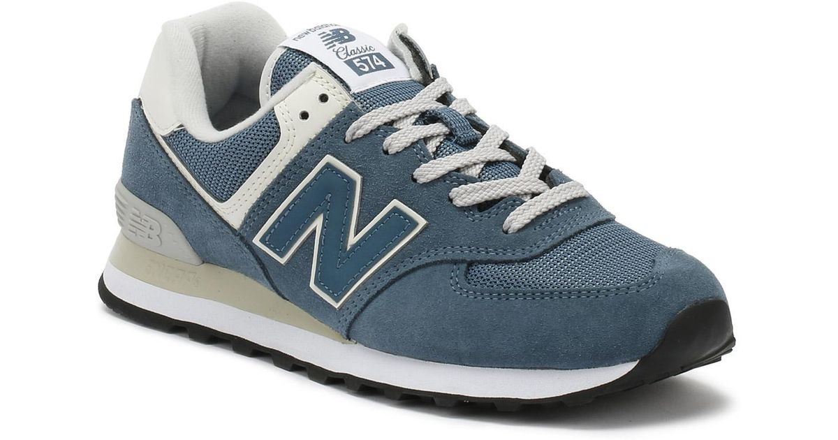 95a60df0b174 ... sale lyst new balance womens light petrol blue 574 classic trainers in  blue e06e7 56f22