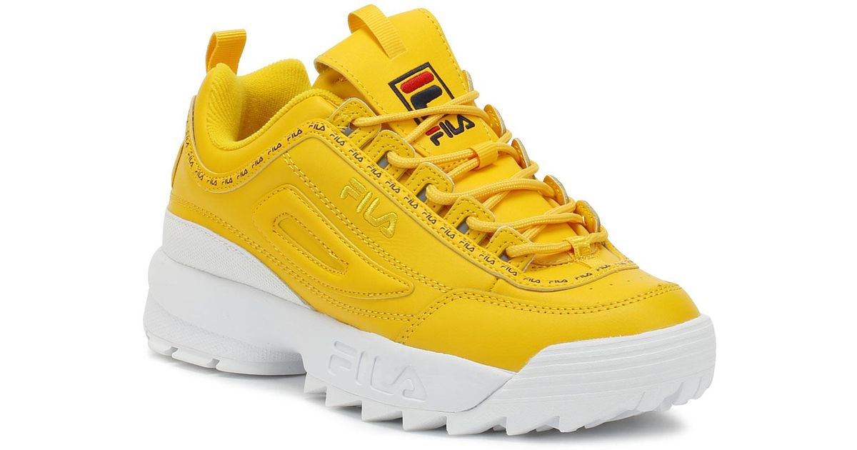 eadc653c1e68f4 Fila Disruptor Ii Premium Repeat Womens Citrus Yellow Trainers in Yellow  for Men - Lyst